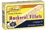 Roland: Mackerel Fillets in Oil 4 Oz (50 Pack)