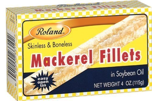 Roland: Mackerel Fillets in Oil 4 Oz (50 Pack) by Roland