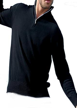 Balldiri 100% Cashmere Kaschmir Herren Pullover Troyer 4 fädig schwarz XXXXL efea52ca53