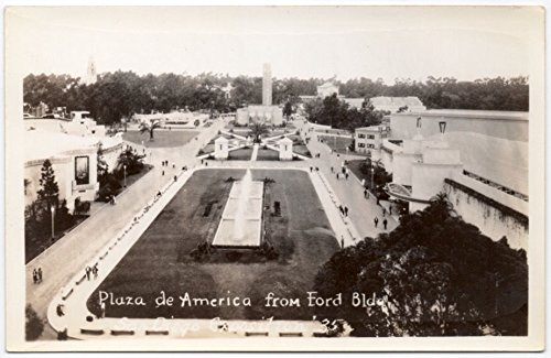 RP Postcard Plaza De America C.P.I.E. Balboa Park, San Diego, - Americas Las San Diego Plaza