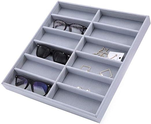 Lineary Caja de Gafas de Gafas de Sol de Gafas Estuche de exhibición de Gafas de Sol Estuche de Almacenamiento de exhibición de Gafas de Sol Estuche Protector para Gafas: Amazon.es: Hogar