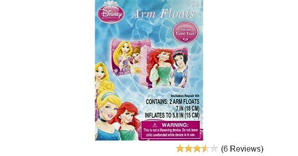 Amazon.com: Disney Princess Ariel, Belle, Rapunzel, & Snow White Set of 2 Swimming Pool Arm Floats: Toys & Games