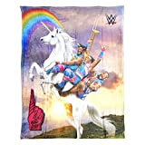 WWE, ''New Day Unicorn Ride'' HD Silk Touch Throw Blanket, 50'' x 60'', Multi Color