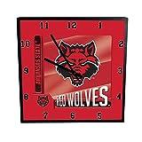 NCAA Arkansas State University Go Team! 12'' Square Clock, One Size, Multicolor