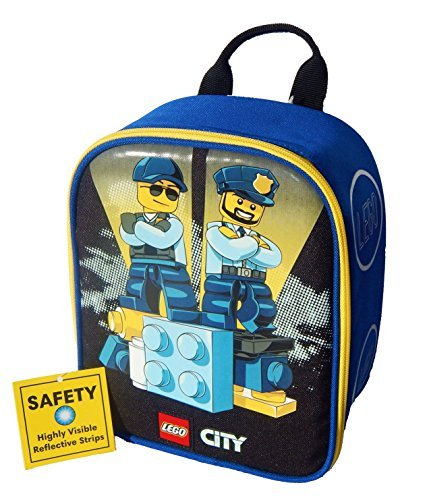 LEGO CITY POLICE Boys Lead-Safe Insulated Vertical Lunch Tot