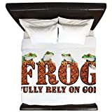 King Duvet Cover FROG Fully Rely On God