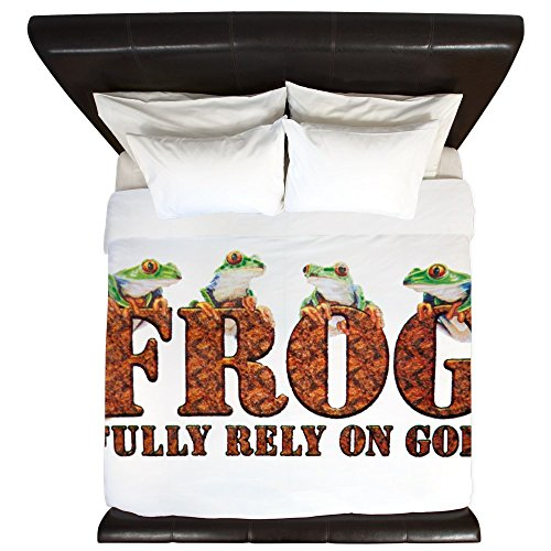 King Duvet Cover FROG Fully Rely On God by Royal Lion