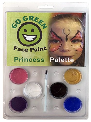 Go Green Face Painting Kits   Easy Face Paint Ideas   Entertainment For Children  In A Simple Kit For A Paint Party   Works Well With Brushes  Sponges Or Stencils   Water Based   Dries Completely