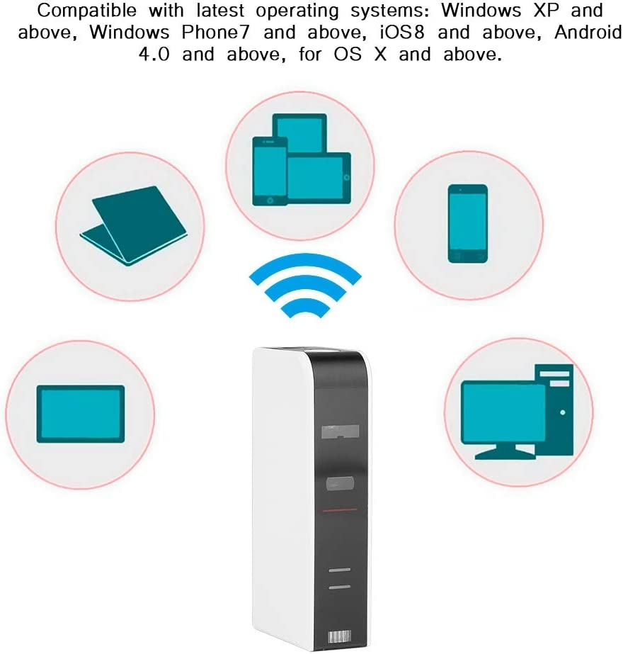 Richer-R Teclado Virtual,IR Teclado,Teclado de Proyección,USB Keyboard Portátil,como Mouse Ratón/Cargador Móvil