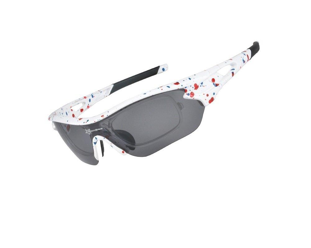 Hysenm Lunettes de Soleil Polarisé Revo Protection UV400+3 Paires de Verres Interchangeables Pour Pêche Vélo randonnée Ski Surf Rockbros