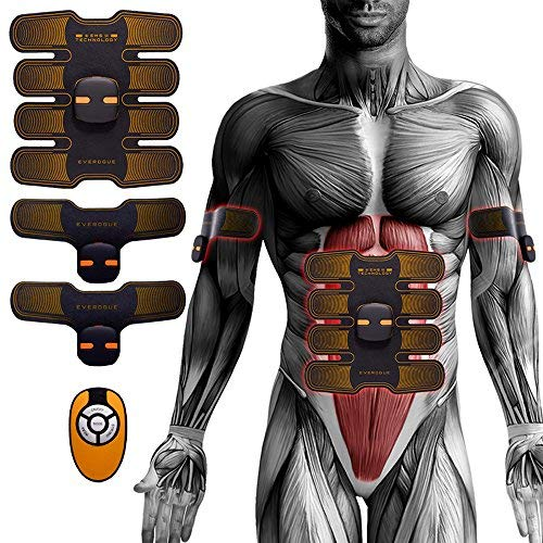 FUGUO Toning Belt for Abdomen/Arm/Leg Muscle Ultimate Abs Trainer Abdominal Toner ABS Trainer Portable Unisex Massager