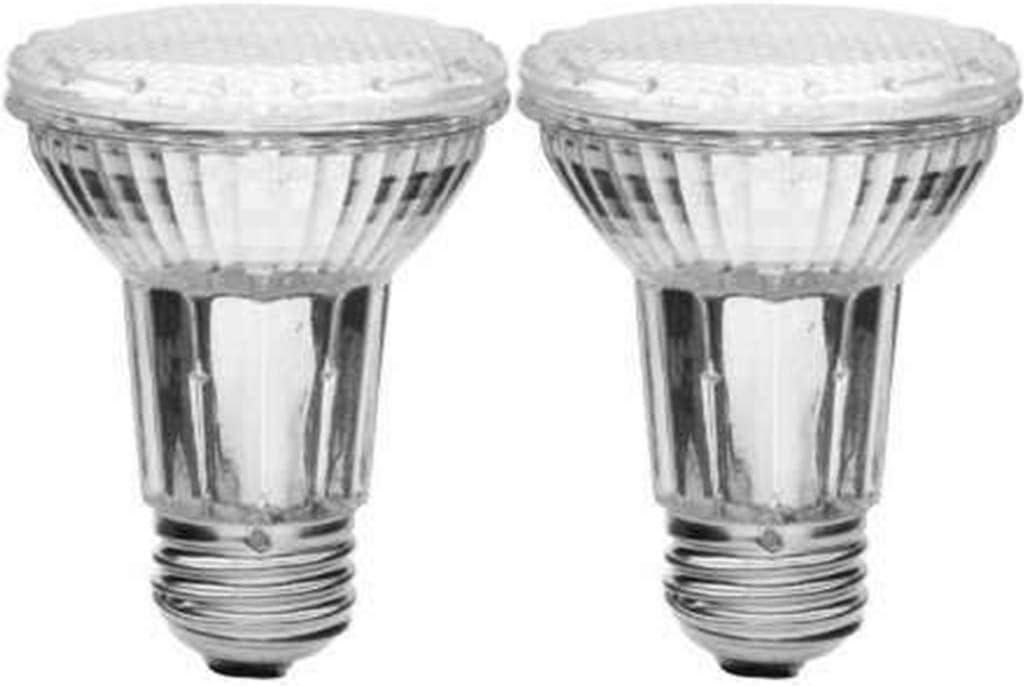 50W Equivalent Blue Color 2-Bulbs PAR20 LED Light 110V Flood Bulb E26 Dimmable 120V Indoor Outdoor