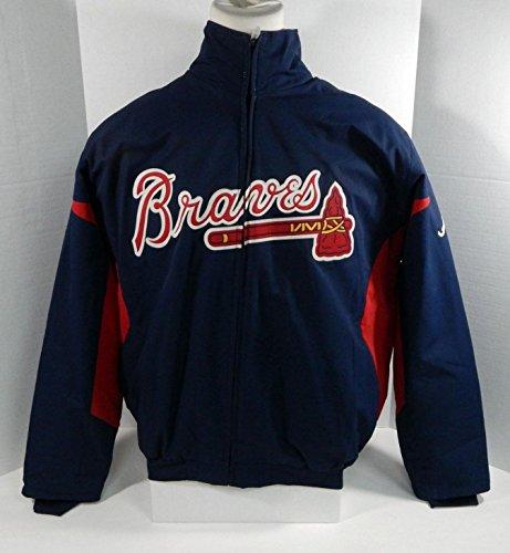 (Atlanta Braves Game Used Blue Bench Jacket BRAVE0008 - Game Used MLB Jerseys)