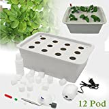 Farway Hydroponic System Kit 12 Holes DWC Soilless Cultivation Indoor Water Planting Grow Box