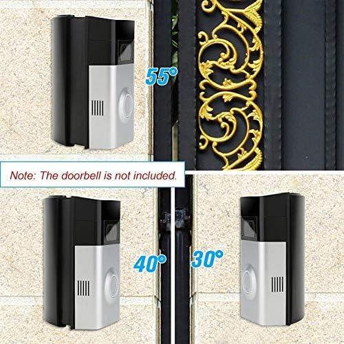 角度調節(30から55度自由に)リングのビデオドアベル2角度調整アダプタの呼び鈴マウントブラケット/取付板/ブラケット 呼び鈴 防水 防塵 ワイヤレスチャイム 玄関チャイム
