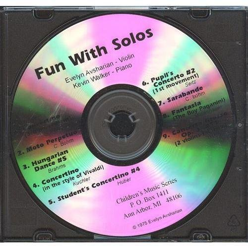 Fun With Solos: Favorite Recital Pieces for 1st and 3rd Positions - Intermediate CD for Violin