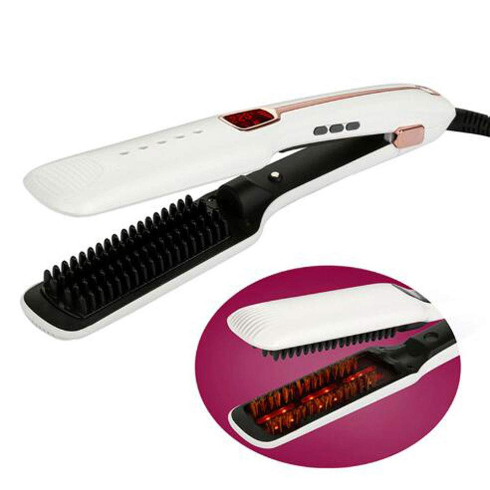 WYL 3-in-1 Multi-Function steam Spray Infrared Negative ion Straight Hair Comb,US