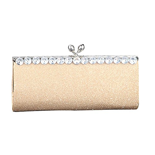 Elegant Evening Bag Prom Ladies Gold Crystal for Wedding Women Clutch Bags xEwddqA5