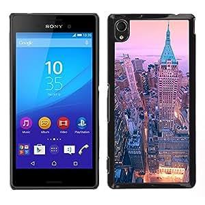 [Neutron-Star] Snap-on Series Teléfono Carcasa Funda Case Caso para Sony Xperia M4 Aqua [40 Wall Street New York City Skyline]