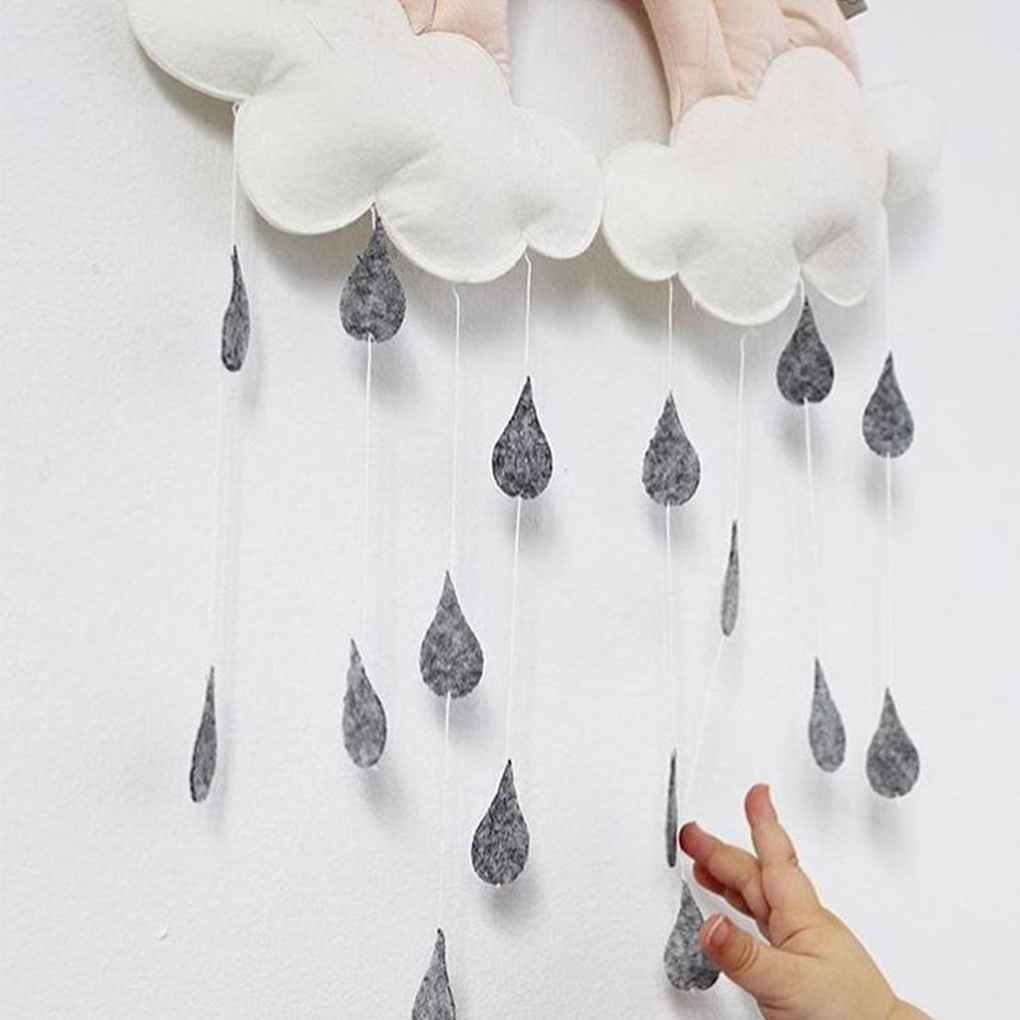 Vkospy Newborn Cloud Rainbow Raindrop Wall Toys Baby Bed Tent Pendant Crib Hanging Toy Room Ornament Infant Photo Props