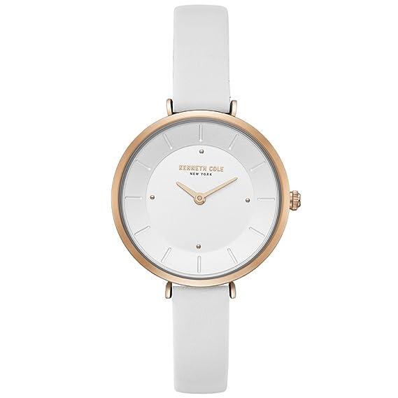 Kenneth Cole Reloj Analógico para Mujer de Cuarzo con Correa en Cuero KC50306004