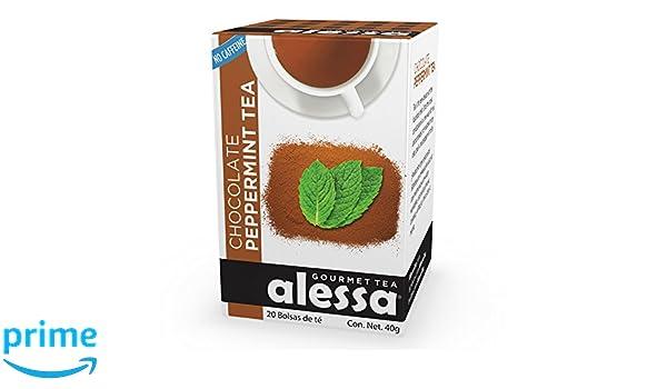 Amazon.com : Alessa - Chocolate Peppermint Gourmet Tea - 40 ...