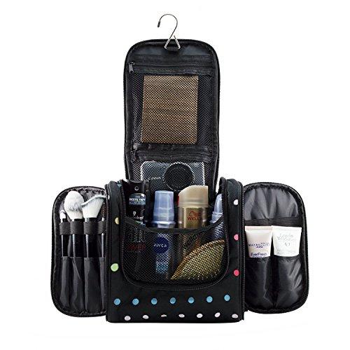 Designer Hanging (Hanging Makeup Cosmetic Bag, Large Portable Travel Toiletry Organizer Bag.)