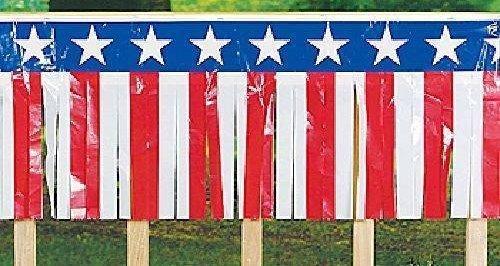 100 Foot - Patriotic Fringe Banner -