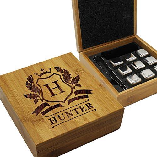 Personalized Whiskey Stone Gift Set – Custom Engraved Drink Stones Box