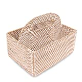 NOVICA Handmade Bamboo Natural Fiber Storage Container, Brown Natural or White, 'Lombok Picnic'