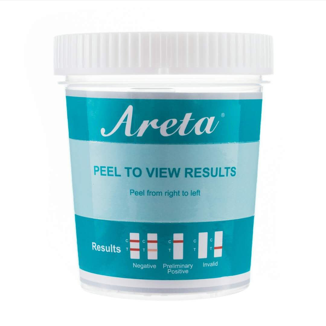 5 Pack Areta 14 Panel Drug Test Cup Kit With Temperature Strip, Instant Testing 14 Drugs Buprenorphine (BUP),THC,OPI 2000, AMP,BAR,BZO,COC,MET,MDMA,MTD,OXY,PCP,PPX,TCA-#ACDOA-1144 (5 Tests) by Areta (Image #2)