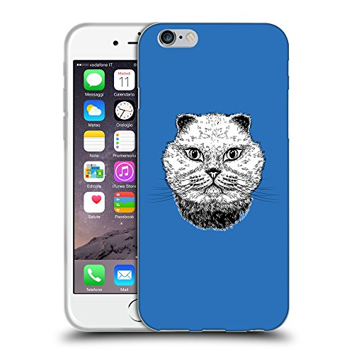 GoGoMobile Coque de Protection TPU Silicone Case pour // Q05220608 gros chat Azur // Apple iPhone 7
