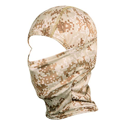 - WTACTFUL Camouflage Balaclava Hood Ninja Outdoor Cycling Motorcycle Motorbike Hunting Military Tactical Airsoft Paintball Helmet Liner Gear Wind Dust Sun UV Protection Breathable Full Face Mask SR-01