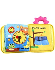 Dolity Baby Book, Cloth Book Baby Gift, Fun Interactive Soft Book for Babies, Infants,