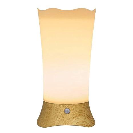 DEEPLITE Lámpara de mesa a pilas, sensor de movimiento, luz ...