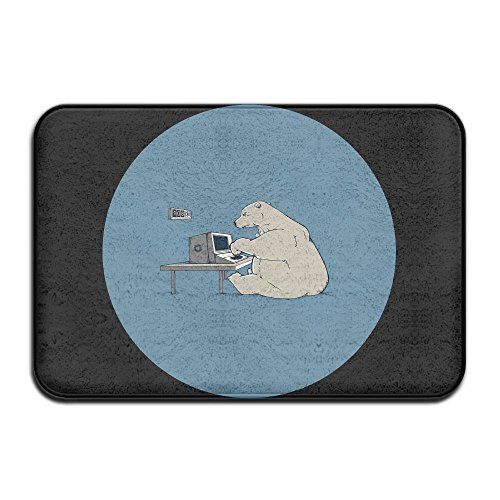 Door Mat Always Be Yourself Except When You Can Be Working Polar Bear Non-slip Stain Fade Resistant Soft Living Dining Room Rug For Front Door Entrance Outside Doormat 23.615.70.39Inch