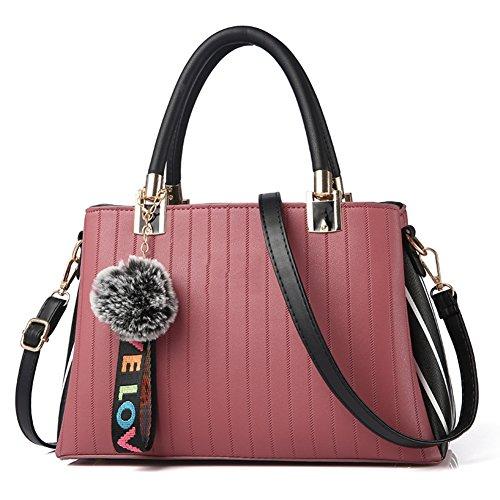 Superiore A Bag Spalla Tracolla Borsa Hobo Superiore Con Pacchetto Borse Maniglia Manico Handbag Shoulder grigio Nclon Elegante Rosa Messenger Pu Pelle q1wtxtUY