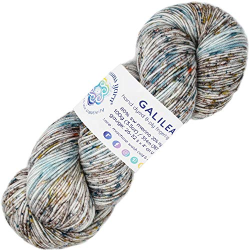Living Dreams Yarn Galilea. Colorful Superwash Merino Sock Yarn. Super Soft and Strong. Hand Dyed to Perfection: Andromeda