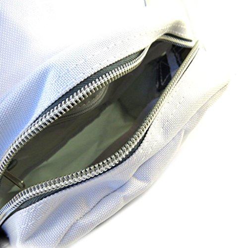 Leinwand umhängetasche 'Real Madrid'weiß grau - 22x17x7 cm.