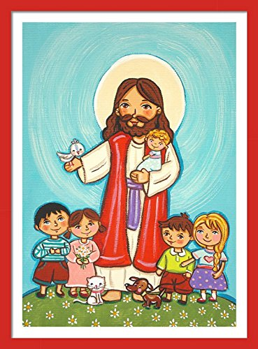 Amazon Com Jesus With Children Print Jesus Print Jesus Painting Jesus Picture Jesus Wall Art Childrens Wall Art Good Shepherd Jesus Art Print Jesus Christ Art Christian Kids Jesus Art First Communion Gift