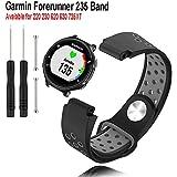 Budesi for Garmin Forerunner 235 Watch Band-Replacement Silicone Watch Bands Strap for Garmin Forerunner 220/230/620/630/735XT Smart Watch