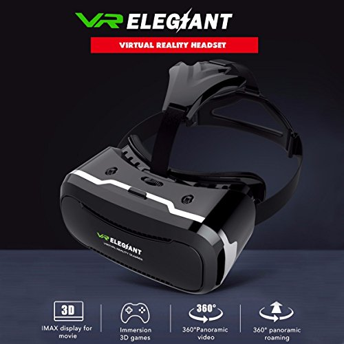 VR Headset,ELEGIANT 3D VR Glasses Virtual Reality Box for 3D Movies Video Games, for iPhone 7 Plus 6 Plus 6s Samsung S7 S6 Edge S5 Note 5 Other 4.0-6.0 Inches Smartphones Photo #2