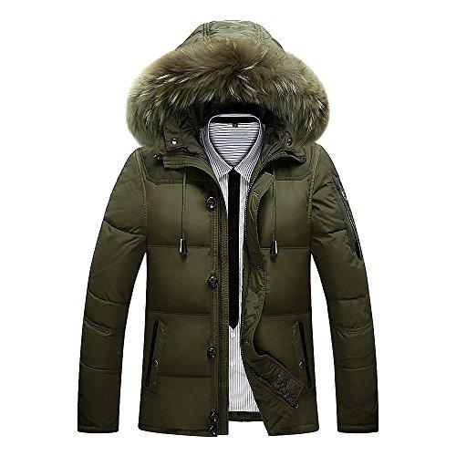 Cappotto Collare Impermeabile Fym Uomini Maniche Zip Militare Degli Giacche Piumino Dyf Verde Lunghe F1Ow6