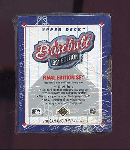 Final Edition Deck 1991 Upper - 1991 Upper Deck Final Edition Baseball Card Complete Box Set FACTORY SEALED