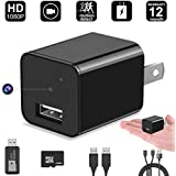 Mini Hidden Camera, DigiHero 32GB HD 1080P Wall Charger Camera Mini Camera, Security Camera. Can Charge Phone While Recording A