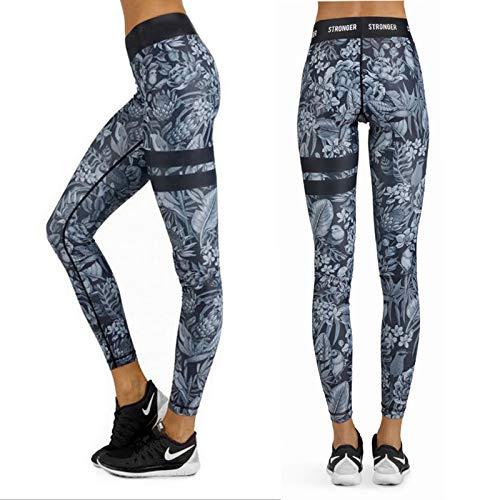 MAOYYMYJK Yoga-Hose Für Damen Lässige Oberschenkel Doppelkreis Digitaldruck Hohe Taille Yoga Sport Leggings Frauen