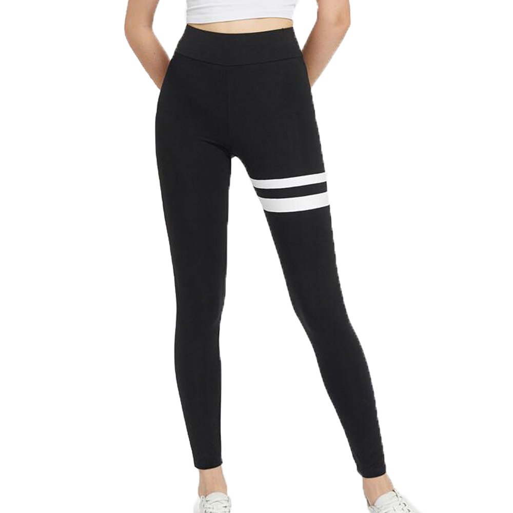 FITTOO Women's High Waisted Sporting Black Leggings Gym Workout Yoga Pants Jogging Running Tights Circles L