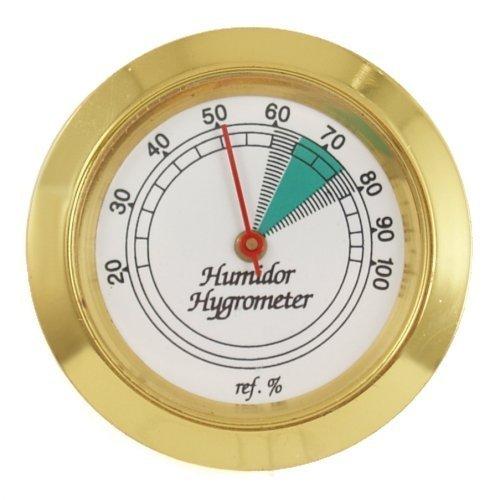 Medium Round Analog Hygrometer Humidity Gauge Humidor ()