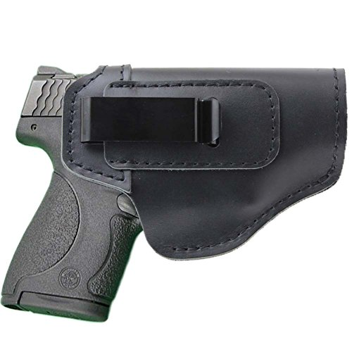 Cowboy Drop Loop - IWB Concealed Holster Leather for Glock 17 19 22 23 32 33 36 43 and S&W M&P Shield 9mm or All Similar Sized Handguns(Right Side-Blank)