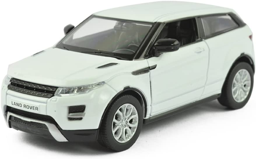 Uni-fortune 5inch Range Rover Land Rover Evoque Diecast Model Car 1/36 Pull Back Toy for Kids Gift White